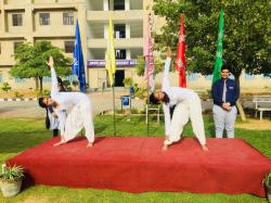 Jhunjhunu Academy celebrates International Yoga Day