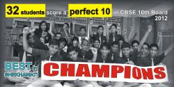 32 Students scored Perfect 10 in 10th Board
